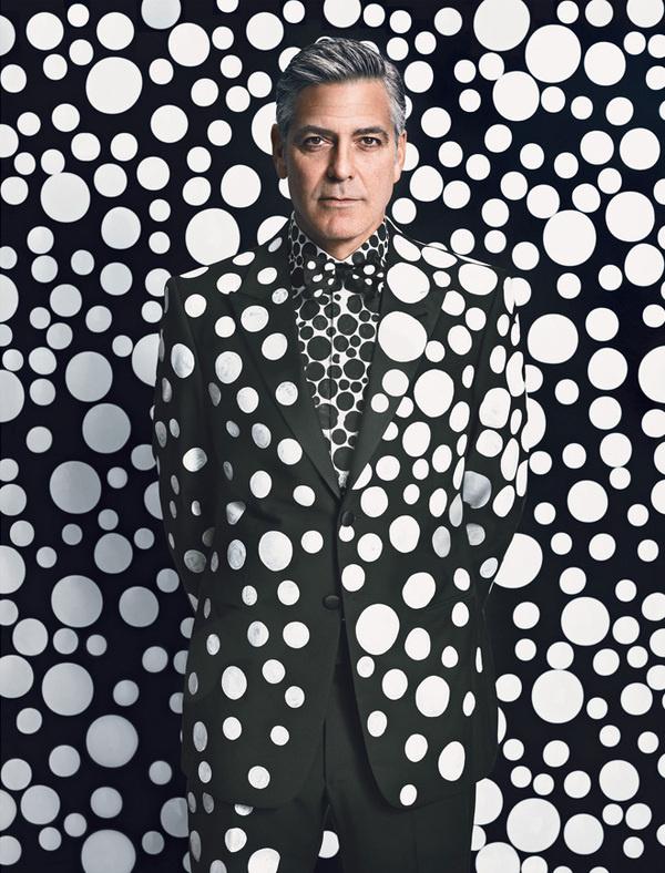 George Clooney by Yayoi Kusama #art #patterns