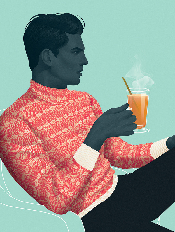 Cocktails for Cold Nights by Jack Hughes — Agent Pekka #illustration #people
