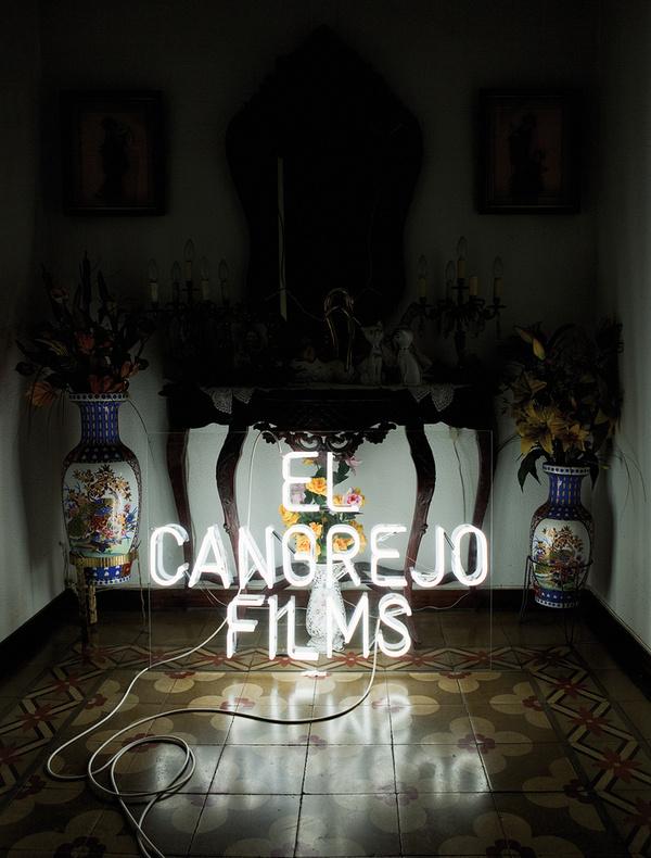 El Cangrejo Films (Identity) by Lo Siento Studio, Barcelona #typography #losiento #branding #neon