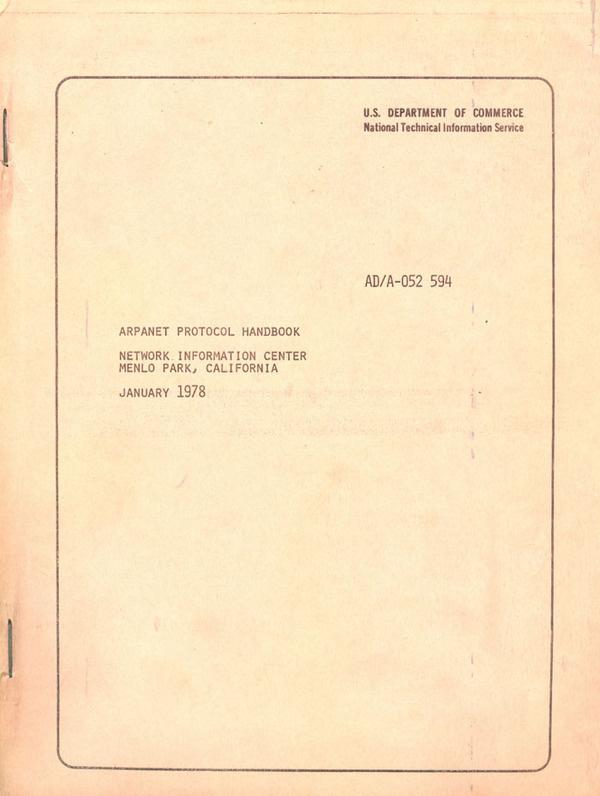 arpanet protocol handbook 1978 #handbook #1978 #protocol