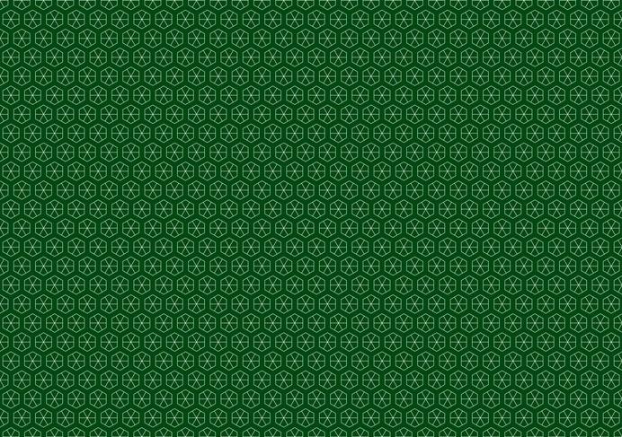 green hexagonal pattern