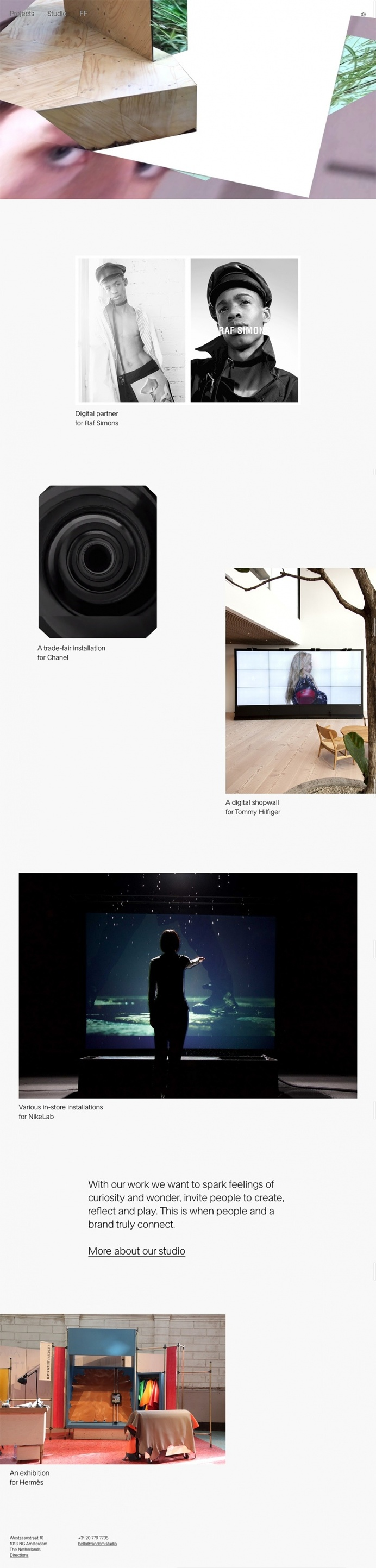 Random Studio - Mindsparkle Mag - Random is an Amsterdam based digital experience design studio whose website is awarded as site of the day