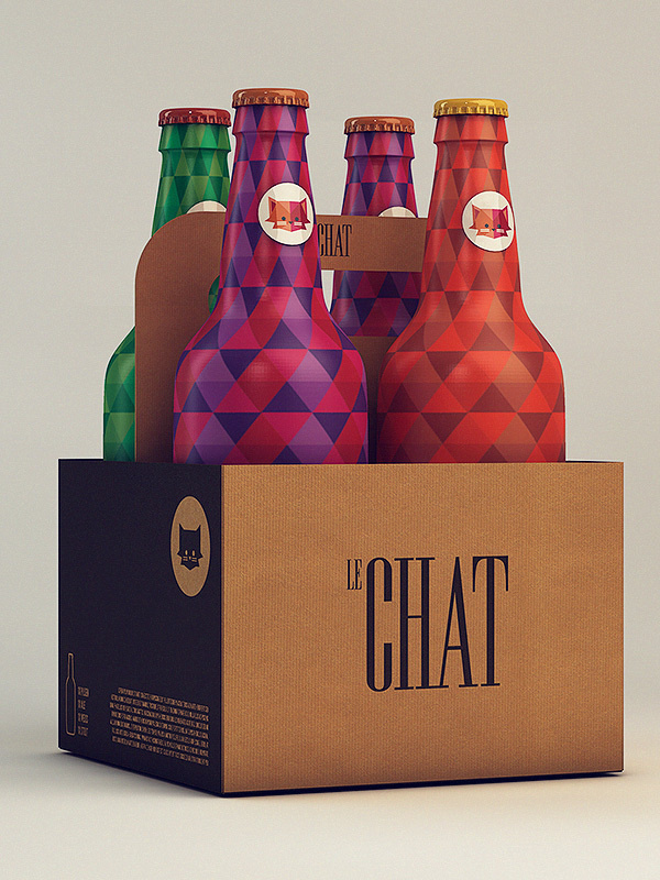 Le Chat on Behance #packaging #illustration #cat