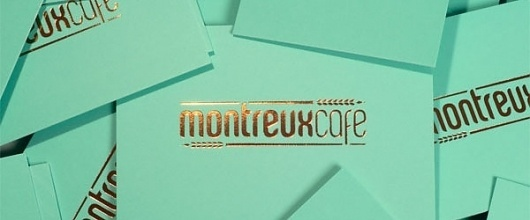 Montreux Café Identity System - FPO: For Print Only #business #branding #card #food #restaurant #foil