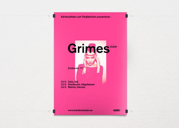 Henrik Stelzer — Art Direction #swiss #pink #grimes #poster #typography