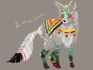 Dribbble - le rouge warrior by shawna ✖ #illustration #shawna #fox
