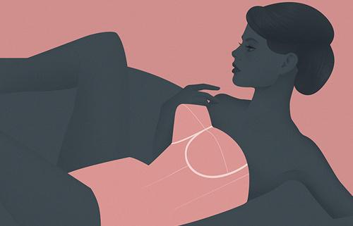 Jack Hughes Illustration #lingerie #female