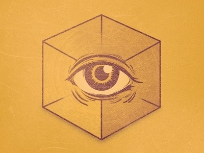 Dribbble - No Religion by Von Haggen. #cube #providence #eye #illustration #god #satan
