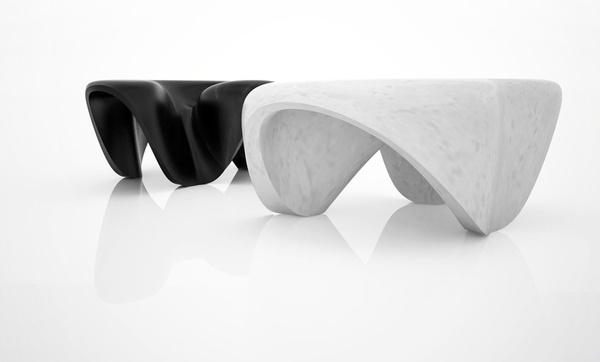Marble Tables by Zaha Hadid #minimalist #furniture #design #minimal