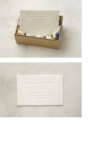 Porcelain Invitation : Alana McCann #porcelain #invitation