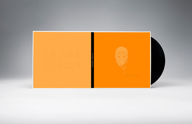 F R A N K O C E A N #ocean #album #orange #cover #vinyl #frank #channel
