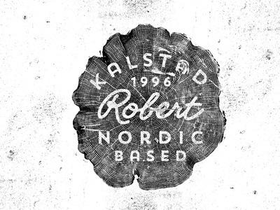 Robert Kalstad #logo #tree #typography