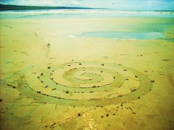 Sandspiral land art #land #landscape #photography #art #eco #tone #beach