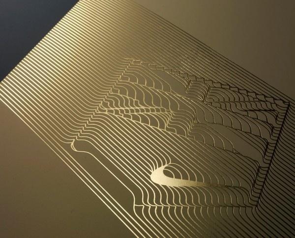Nike_retailer_hospitality_4 #nike #print #letterpress #gold