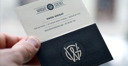 FPO: Wright & Goebel Business Cards #business #branding #letterpress #texture #deboss #cards