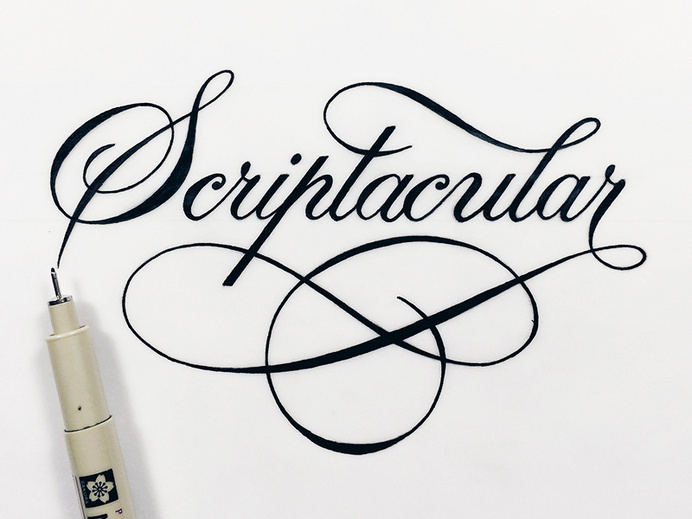 Scriptacular by Christopher Craig #script #lettering #hand #typography