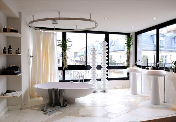 Latest Bathroom Designs and Colors for 2017 - #bath, #interior, #decor, #trend