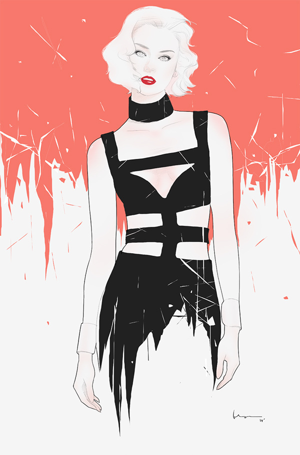 2014 IV on Behance #inspiration #model #woman #digital #illustration #art #fashion #floyd #drawing #female #grey