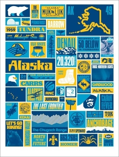 Draplin Design Co.: DDC-041 #draplin #vector #alaska