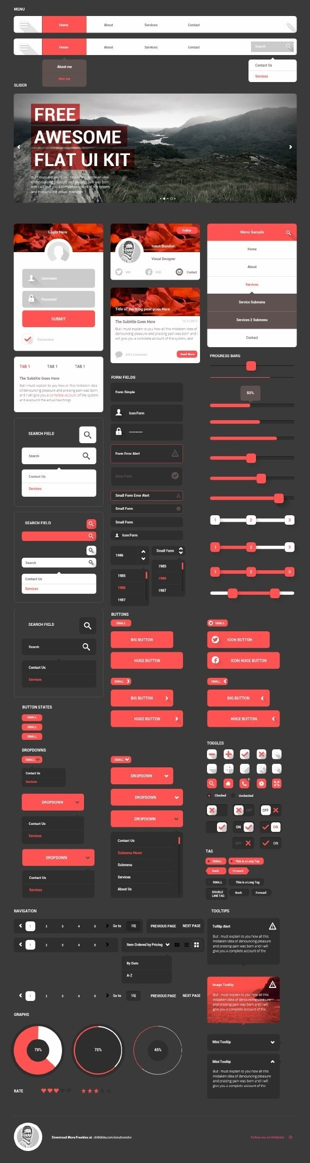 free_ui_kits_for_designers_06 #dashboard