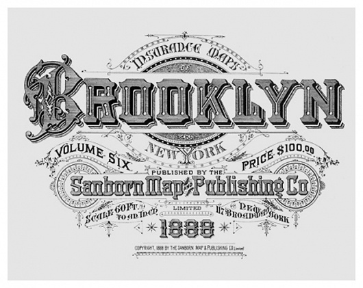 sanborn-new-york-city-typography_what-you-need02.jpg (JPEG Image, 630x501 pixels) #vintage #brooklyn #typography