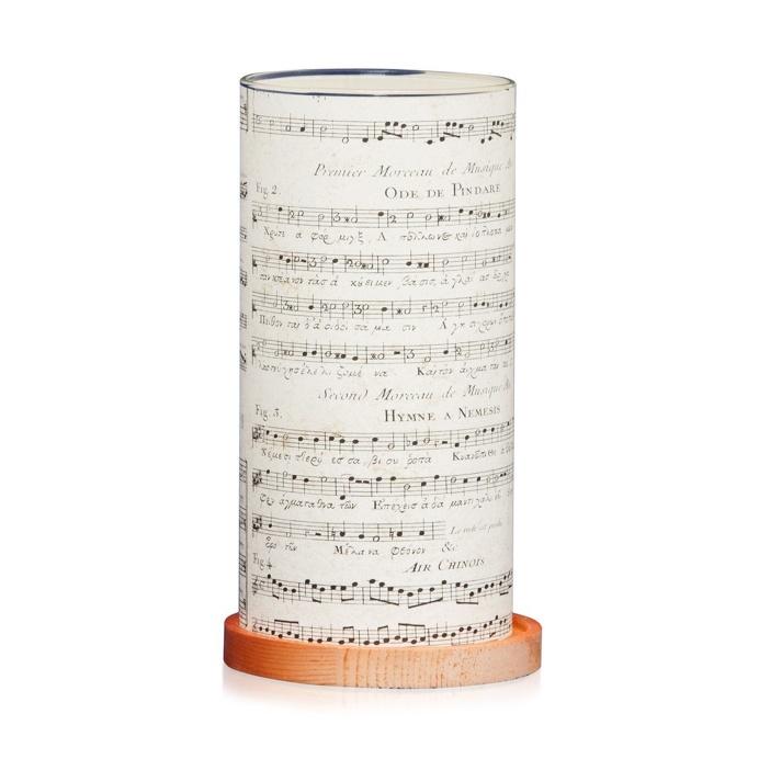 Vintage Music Large Lantern, 21 cm H x 11.4 cm