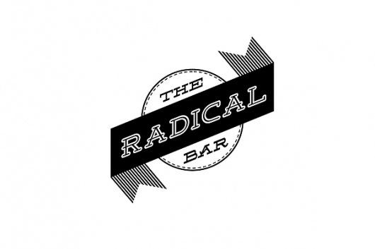 Logo Designs on the Behance Network #stamp #white #kelava #black #logo #the #radical #bar #type