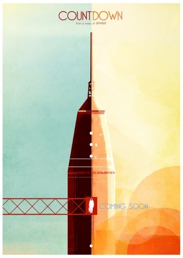 >- Groovy Sushi: Illustration #print #space #illustration #rocket #typography