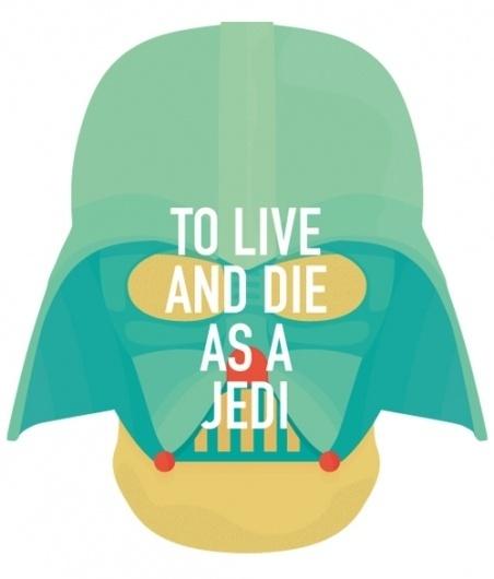 ANONYMOUS MAG #live #die #annakin #jedi #helmet #wars #illustration #vader #star #darth #dad