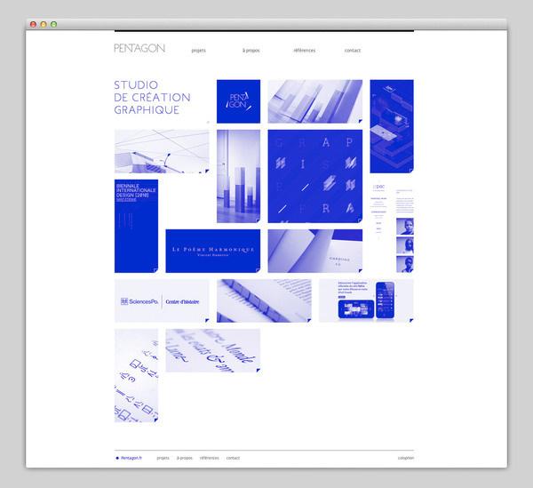 Pentagon #design #website #grid #layout #web