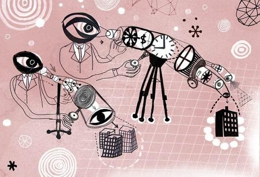 - JAMES GULLIVER HANCOCK - #brother #big #eye #illustration #suits