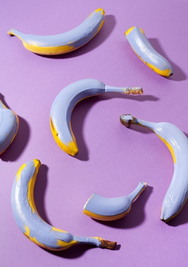 Compostition VIII by Lauren Hillebrandt #compostition #banana #fruit #purple