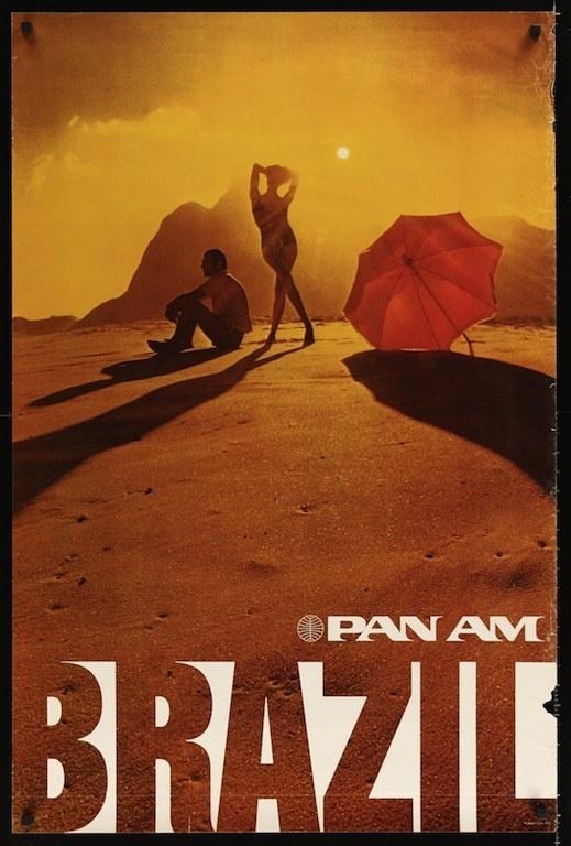 crackityjones77: PAN AM BRAZIL travel poster (1972) #travel #poster