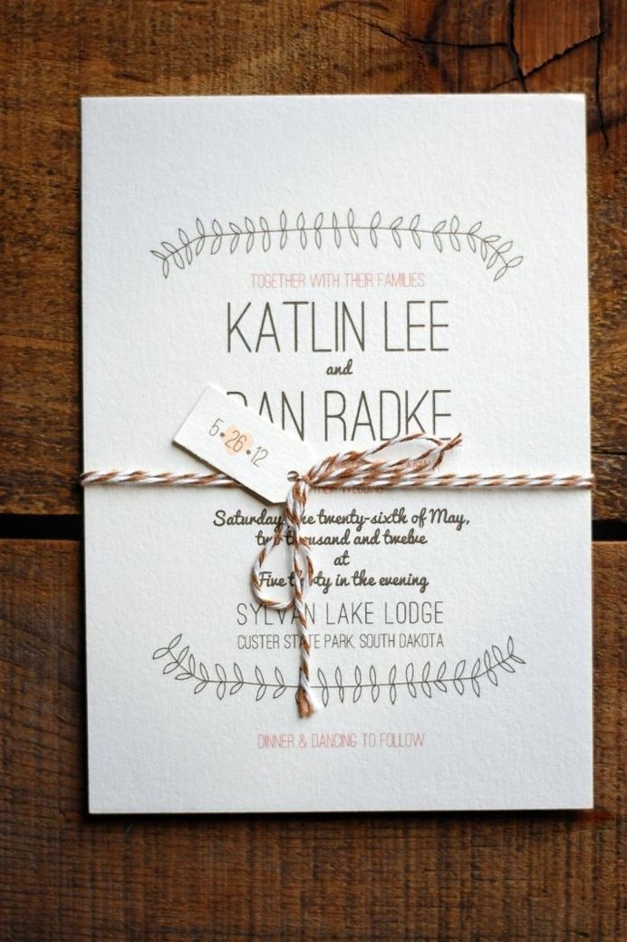 Simple and sweet #wedding invitation design in neutral shades from Snail Mail Design Shop