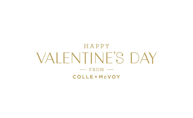 C+M valentine's day - Graphic Design portfolio of Marina Groh #valentines #emboss #direct #painted #print #letterpress #sweet #chocolate #craft #paint #mail #day #gold #mailer #love #typography