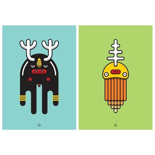 Monster Totem vol:3 #monster #illustration #vector