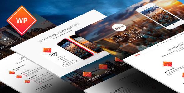 Aire - Mobile App Landing Page WordPress Theme