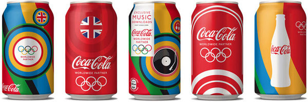 Coca Cola London Olympics2012 The Dieline #packaging #illustration