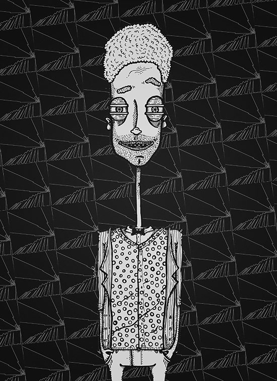 """B&W"" by Molly Yllom #illustration #character #design"