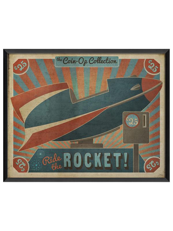 Coin Op Rocket Gilt Home #rocket #retro #poster