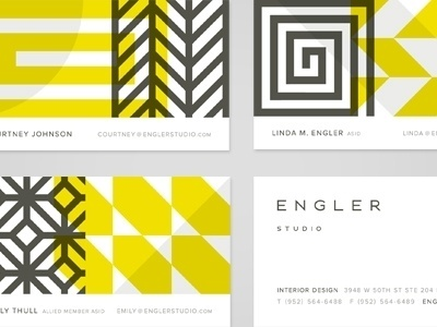 Dribbble - Engler Studio by Eight Hour Day #business #branding #logo #collateral #type #cards