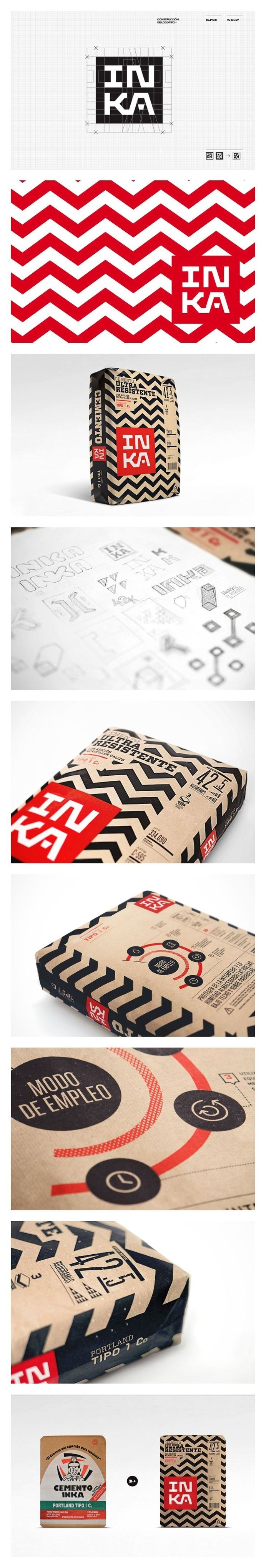 Cementos Inka gorgeous #packaging #design #graphic #identity