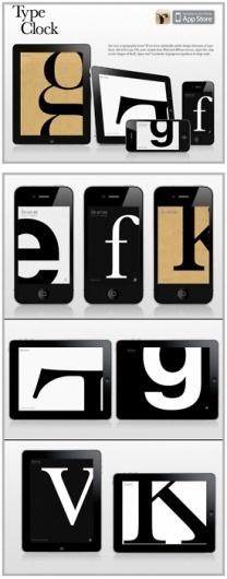 Cutt & Pastte #type #iphone #app #clock #typography