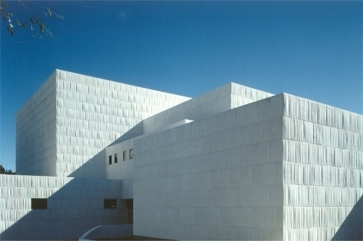 Teatro Municipal Miguel Fisac (2003) Miguel Fisac #fisac #concrete #white #architecture #miguel #facades