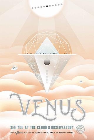 NASA Poster | Venus #poster #nasa #illustration
