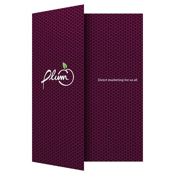 Plum Direct Marketing Presentation Folder #plum #marketing #folder