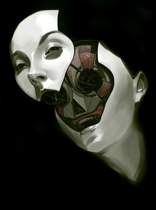 "Billy Nunez ""Future Face"" #robot #fi #sci #mechanical #face #future #deconstructed"