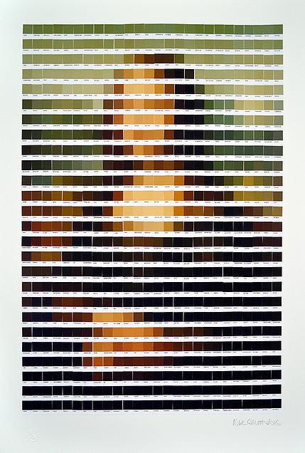 PANTONE ART BY NICK SMITH - follow dailyinspiration #mona #louvre #davinci #color #art #pantone #painting #lisa