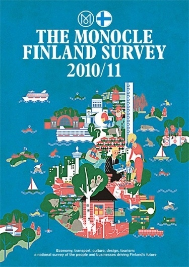Monocle - Finland and Lebanon Surveys on the Behance Network #print #design #graphic #finland #cover