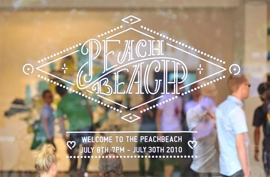 Welcome to the Peachbeach - The Show on the Behance Network #exhibition #signage #identity